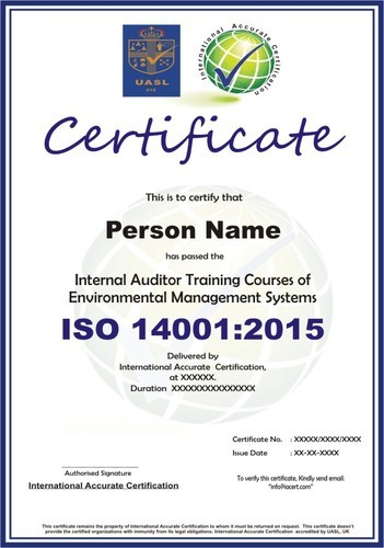 ISO 14001:2015 Lead Auditor and Internal Audit Training