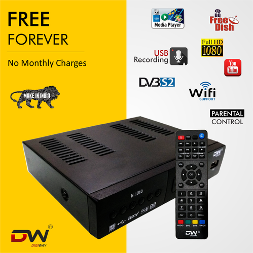 Digiway Free To Air Set Top Box Dvb S2, Mpeg 4, Full Hd With 2 Usb(contact  Only Bulk Buyers Only)