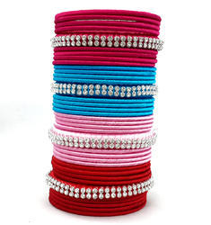 Multicolor Silk Thread Bangle Set