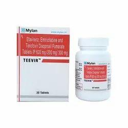 Teevir- Tenofovir Desoproxil Fumarate, Emtricitabine And Efavirenz