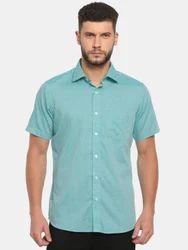 Sky Blue Half Sleeve Men's Shirt