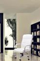 Black & White 01 Seater Amorevole Boss Chair Business Home Office, Size: 48 X 25 X 23 Inches