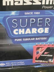 Supercharger Tubular Battery