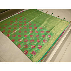 Green Banarasi Saree