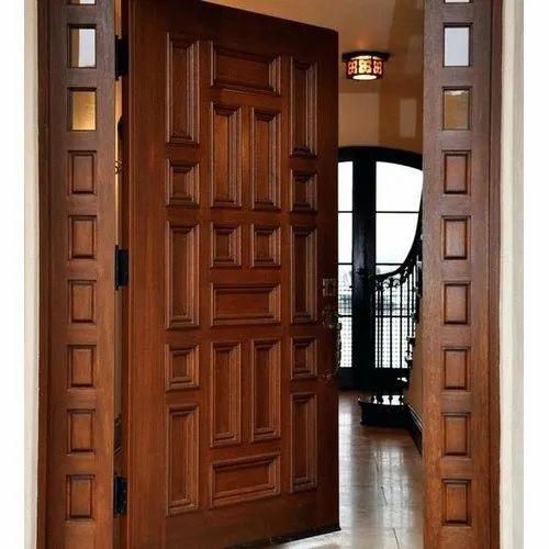 Wood Exterior Wooden Door, For Home