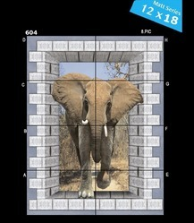 Elephant  Ceramic Wall Tile