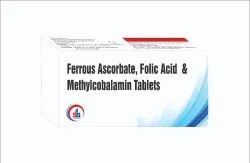 Ferrous Ascorbate, Folic Acid  & Methylcobalamin Tablets
