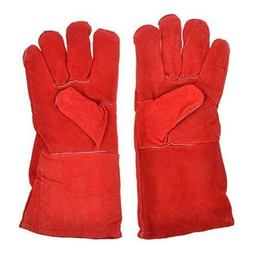 Leather Safety Hand Gloves, Packaging Type: Packet