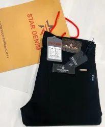 Fabric Heavyweight Knitting Black denim Jeans, 28*34, Machine