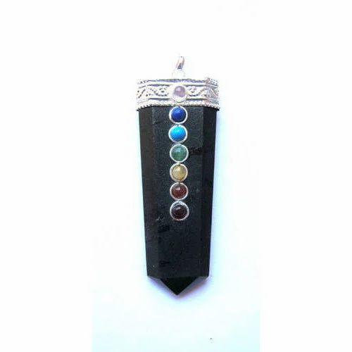Black tourmaline chakra pendant crystal ka jhumka crystal black tourmaline chakra pendant mozeypictures Image collections