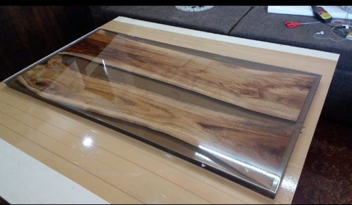 Decorative Wooden Table Top Made With Epoxy Resin, Size/dimension: User Defined