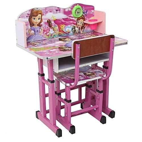 Charmant Plywood Girls Study Table Set