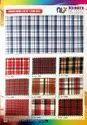 Polyester Viscose Check Shirting Fabric