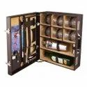 Bar Accessories Mega Bar Set Portable Leatherette Briefcase Bar Set