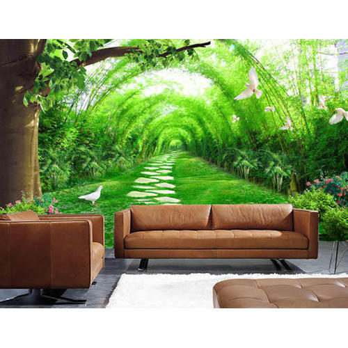 Square PVC 3D Garden Wallpaper