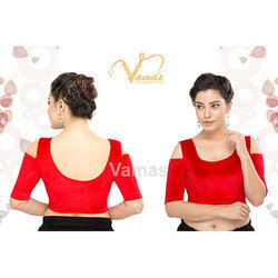 Red Cold Shoulder Blouse