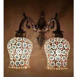 Warm White Down Glass Wall Lamp
