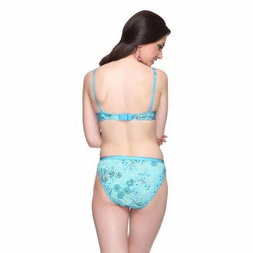 93bca606a6 Lycra Cotton Printed Bra Panty Set