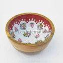 Decorative Wooden Bowl enamel print
