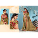 Kanjivaram Silk Embroidered Saree, Length: 5.2 m
