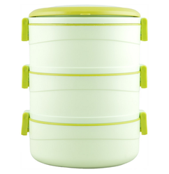Cello Amaze Insulated 3 Container Lunch Carrier Green