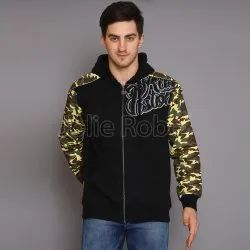 Men's Hooded Zip Up Jacket With Fur Lining