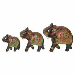 Wooden Emboss Elephant Set