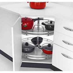 Emperor Cabinet Full Round Carousel Tray With Support