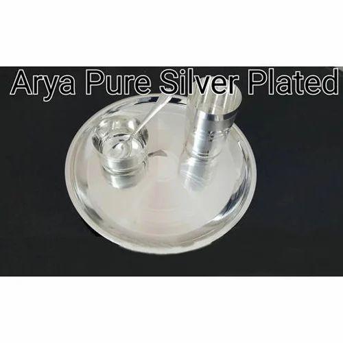 Pure Silver Plated Baby Dinner Set  sc 1 st  IndiaMART & Pure Silver Plated Baby Dinner Set Silver Plated Dinner Set - Arya ...
