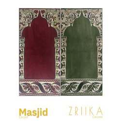 Zriika Carpets Red, Green Masjid Carpet