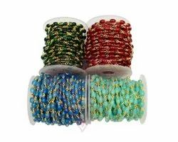 Multi Color Stone Beads Rosary Chain