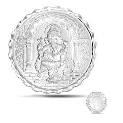 Silver Plated Ganesha Coin