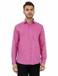 Dark Pink Formal Mens Shirt