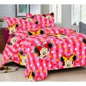 Kids Cartoon Printed Double Bedsheet