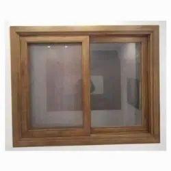 Standard Brown Wooden window