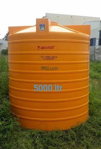 5000 Litre Yellow Triple Layer Tank