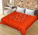 Orange Color New Patch Work Cotton Double Bedsheet