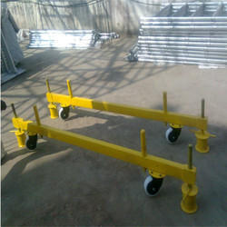 Aluminium Scaffolding On Four Brakable Wheels