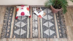 Vimla International Cotton Pile Room Rug, Size: 4x6 Feet