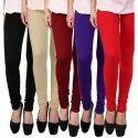 Ladies Plain Cotton Leggings