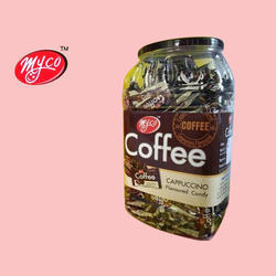 Myco 9 Months Coffee Cappuccino Flavored Candy, Packaging Type: Plastic Jar