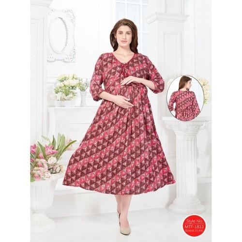 e1748dc925 Floral M Round Neck Maternity Gown, Rs 1399 /piece, Shubh Shri ...