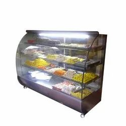 SS Curved Glass Sweet Display Counter