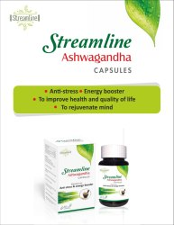 Streamline Ashwagandha Capsule, for Both, Packaging Type: Bottle