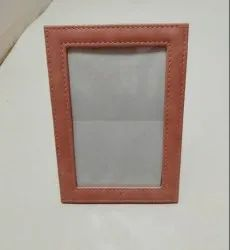 Brown PU Leather Photo Frame, For Gift