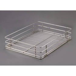 SS Rectangular Plain Basket