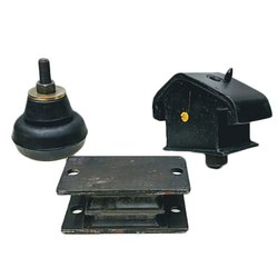 Black Rubber Engine Mounting, Corrosion Resistance: Yes, 50-60 Shore
