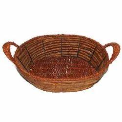 Brown Cane Stylish Decorative Jute Basket (Big), Size/Dimension: 29 X 18 X 7 Cm, 309