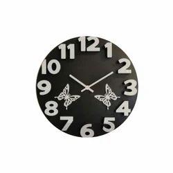 Black Designer Round Clock