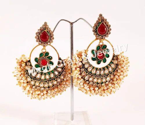 South Indian One Gram Gold Jhumka Earring Wedding Wear Earring